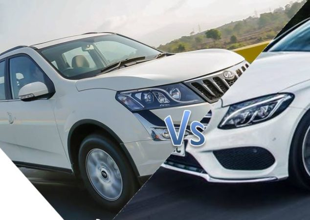 Video Mercedes C Class Takes On Mahindra Xuv500 In Busy Highway